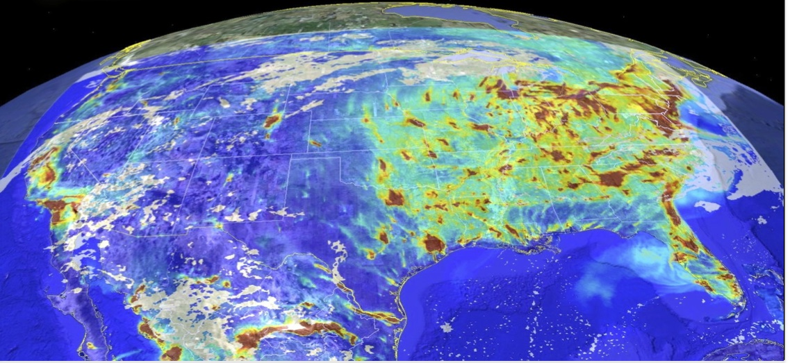 Surface CO across continental United States